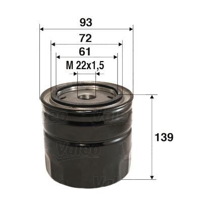 Filtre a huile VALEO 586055 (X1)