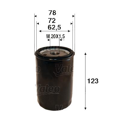 Filtre a huile VALEO 586109 (X1)