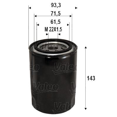 Filtre a huile VALEO 586113 (X1)
