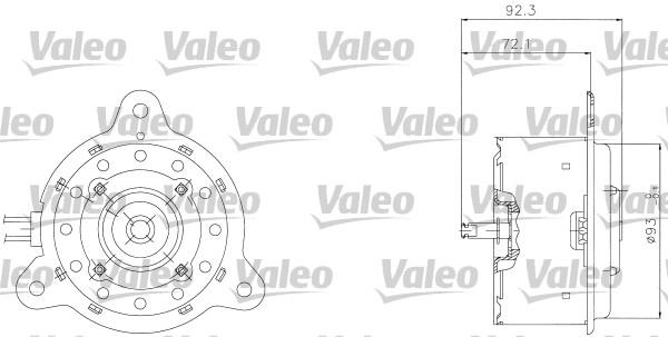 Moteur de ventilateur refroidissement VALEO 698301 (X1)