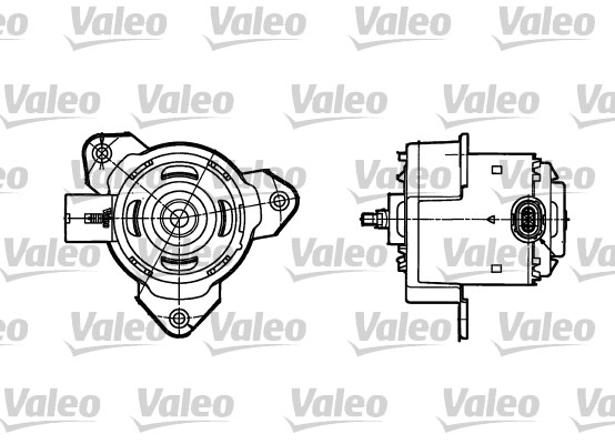 Moteur de ventilateur refroidissement VALEO 698302 (X1)