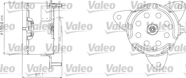 Moteur de ventilateur refroidissement VALEO 698303 (X1)