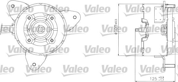 Moteur de ventilateur refroidissement VALEO 698304 (X1)