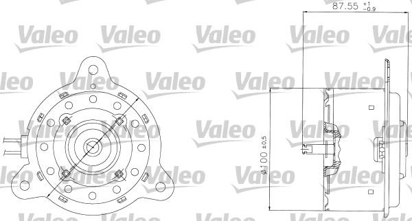 Moteur de ventilateur refroidissement VALEO 698305 (X1)