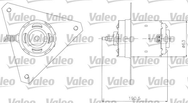 Moteur de ventilateur refroidissement VALEO 698306 (X1)
