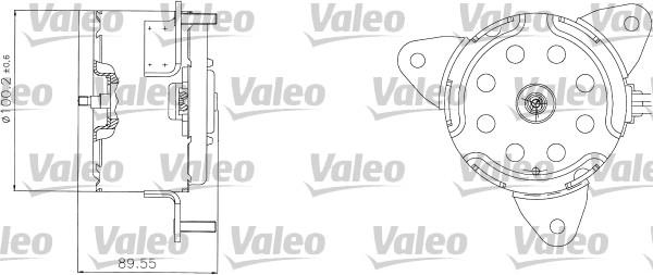 Moteur de ventilateur refroidissement VALEO 698308 (X1)