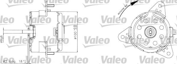 Moteur de ventilateur refroidissement VALEO 698310 (X1)