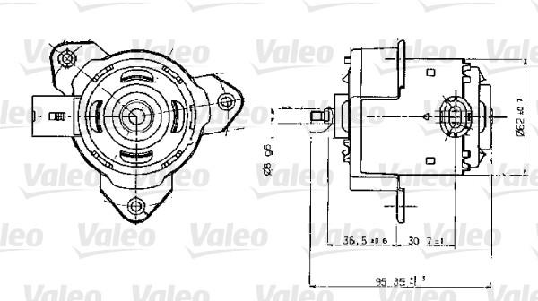 Moteur de ventilateur refroidissement VALEO 698317 (X1)