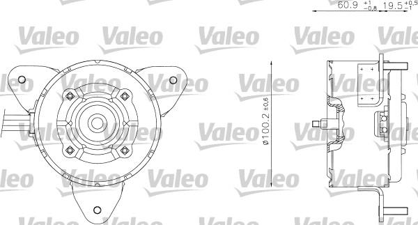 Moteur de ventilateur refroidissement VALEO 698338 (X1)