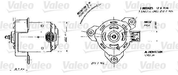 Moteur de ventilateur refroidissement VALEO 698356 (X1)