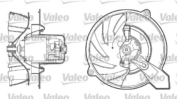 Chauffage et climatisation VALEO 698434 (X1)