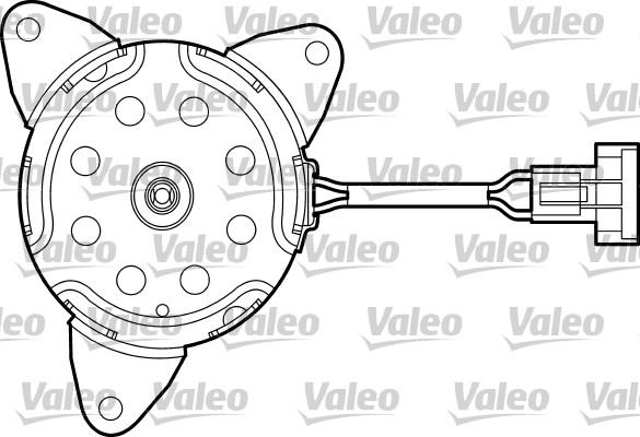 Moteur de ventilateur refroidissement VALEO 698669 (X1)