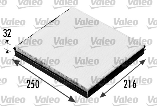 Filtre d'habitacle VALEO 698685 (X1)