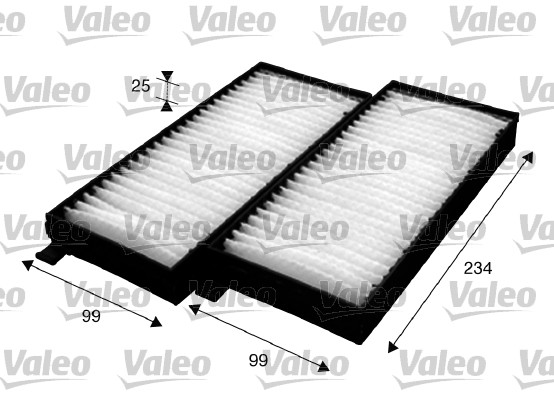 Filtre d'habitacle VALEO 715624 (X1)