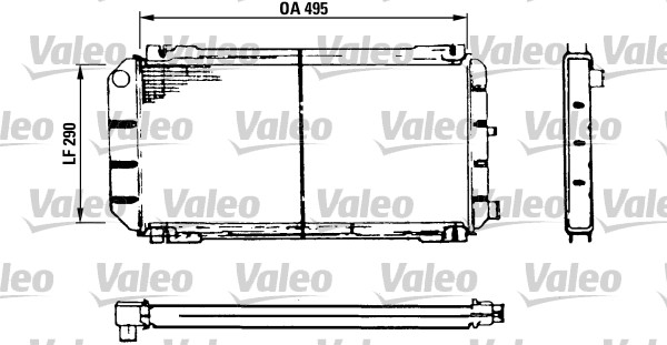 Radiateur de refroidissement VALEO 730116 (X1)