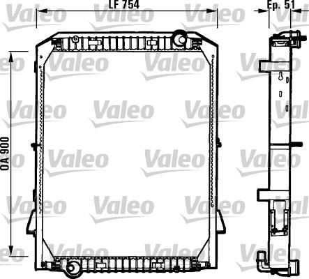 Radiateur de refroidissement VALEO 730259 (X1)