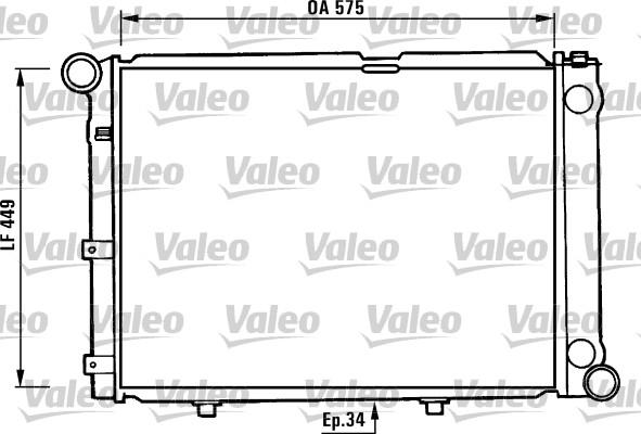 Radiateur de refroidissement VALEO 730344 (X1)