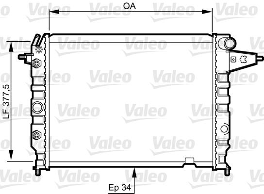 Radiateur de refroidissement VALEO 730395 (X1)