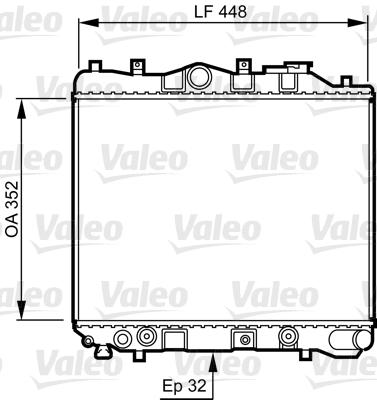 Radiateur de refroidissement VALEO 730435 (X1)