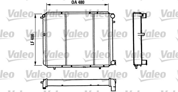 Radiateur de refroidissement VALEO 730511 (X1)
