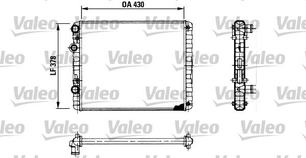 Radiateur de refroidissement VALEO 730956 (X1)