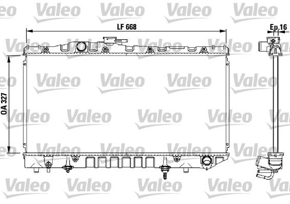 Radiateur de refroidissement VALEO 731114 (X1)
