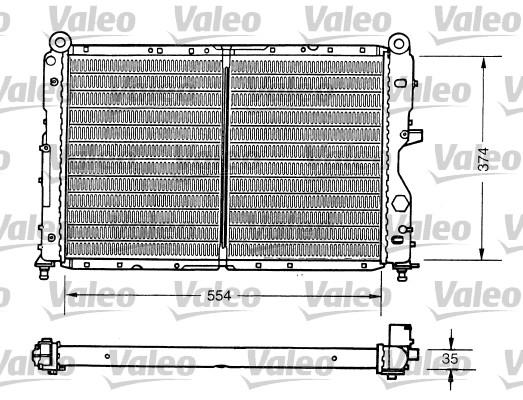 Radiateur de refroidissement VALEO 731159 (X1)