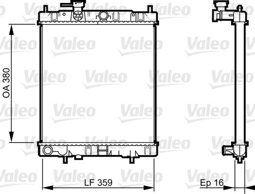 Radiateur de refroidissement VALEO 731287 (X1)