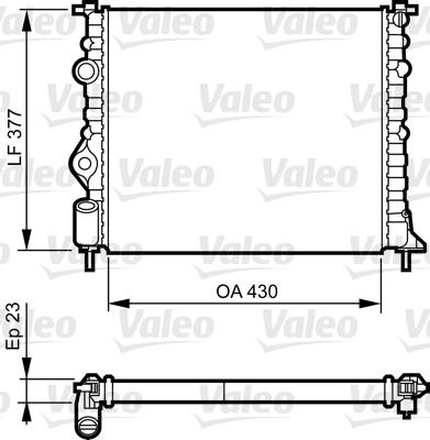 Radiateur de refroidissement VALEO 731378 (X1)
