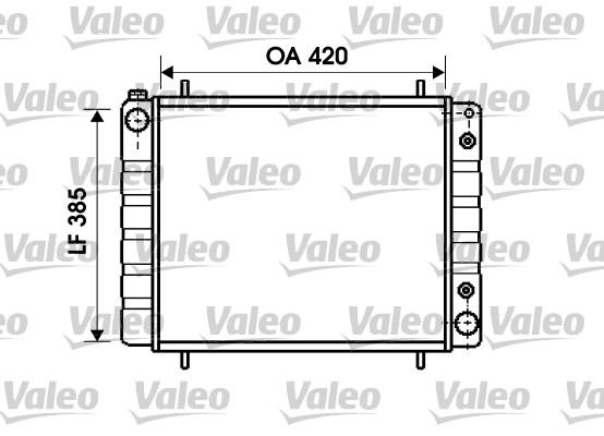 Radiateur de refroidissement VALEO 731406 (X1)