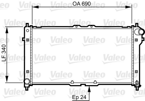 Radiateur de refroidissement VALEO 731466 (X1)