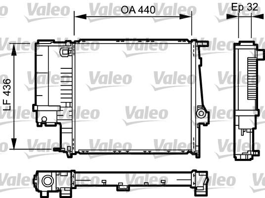 Radiateur de refroidissement VALEO 731511 (X1)