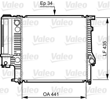 Radiateur de refroidissement VALEO 731512 (X1)