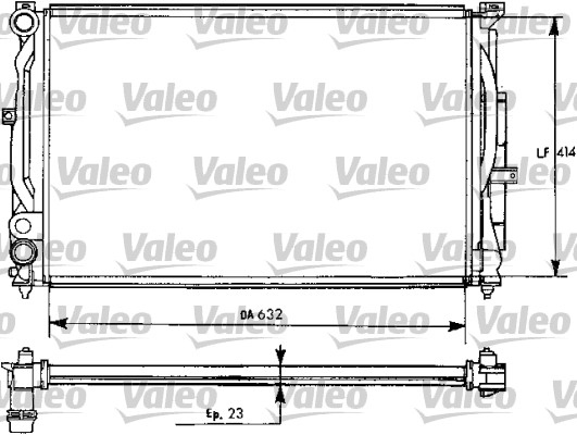 Radiateur de refroidissement VALEO 731537 (X1)