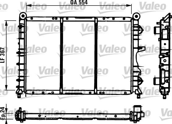 Radiateur de refroidissement VALEO 731590 (X1)