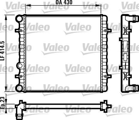 Radiateur de refroidissement VALEO 731607 (X1)