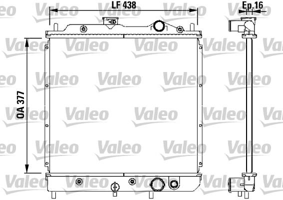 Radiateur de refroidissement VALEO 731646 (X1)