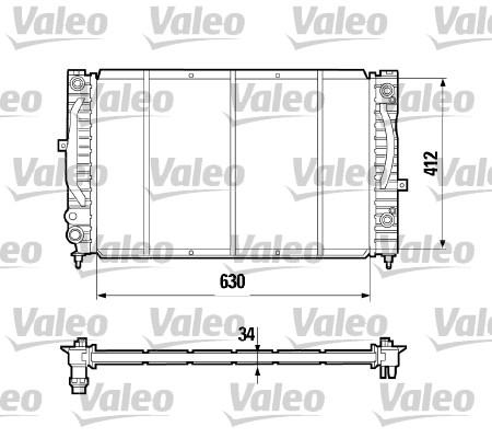 Radiateur de refroidissement VALEO 731755 (X1)
