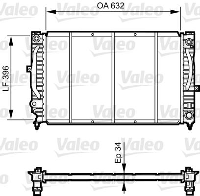 Radiateur de refroidissement VALEO 731756 (X1)