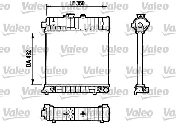 Radiateur de refroidissement VALEO 731804 (X1)