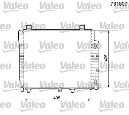Radiateur de refroidissement VALEO 731807 (X1)