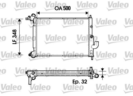 Radiateur de refroidissement VALEO 731846 (X1)