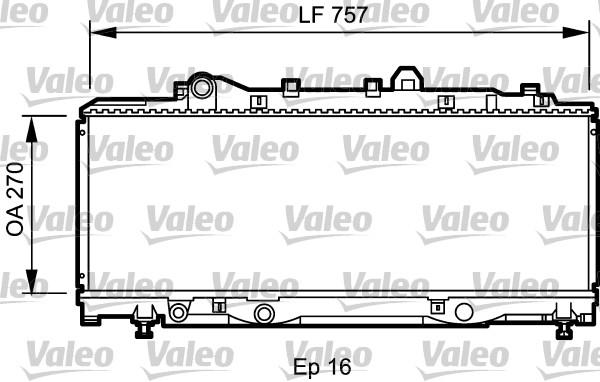 Radiateur de refroidissement VALEO 731980 (X1)