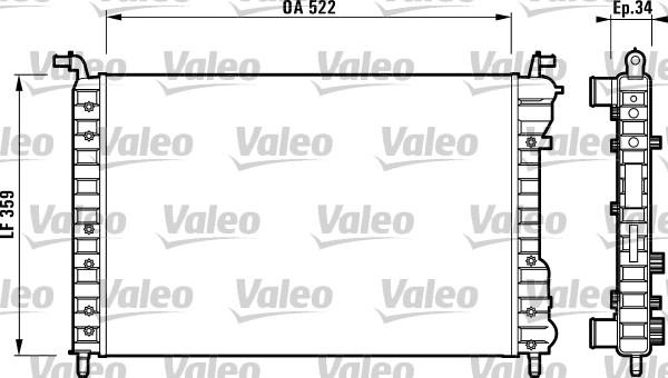 Radiateur de refroidissement VALEO 732006 (X1)