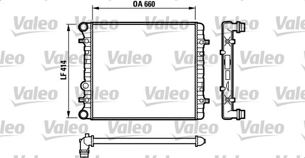 Radiateur de refroidissement VALEO 732175 (X1)