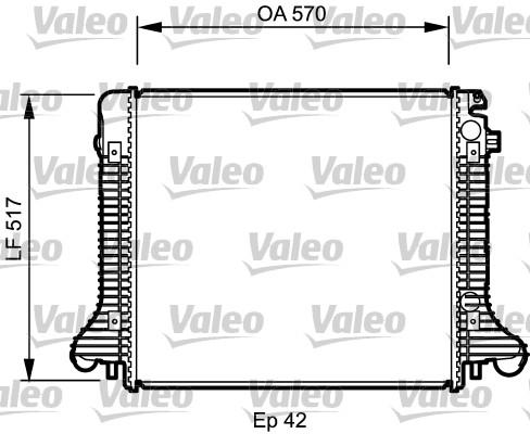 Radiateur de refroidissement VALEO 732304 (X1)