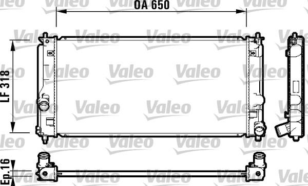 Radiateur de refroidissement VALEO 732413 (X1)