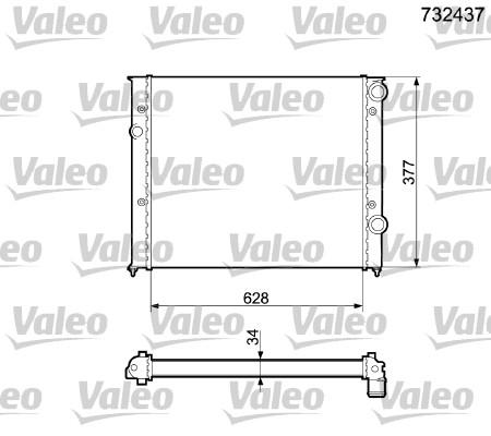 Radiateur de refroidissement VALEO 732437 (X1)