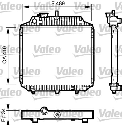 Radiateur de refroidissement VALEO 732442 (X1)