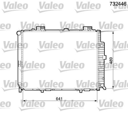 Radiateur de refroidissement VALEO 732446 (X1)